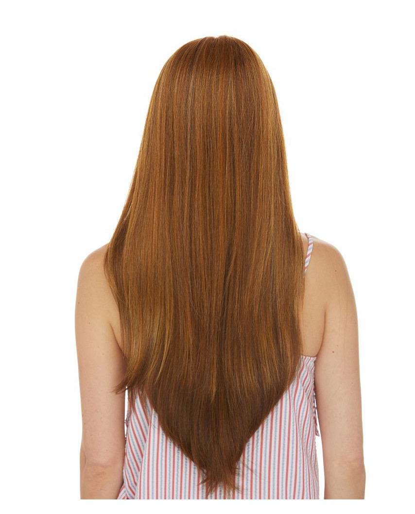 Sepia — Perruque synthétique longue et lace front Lindsey