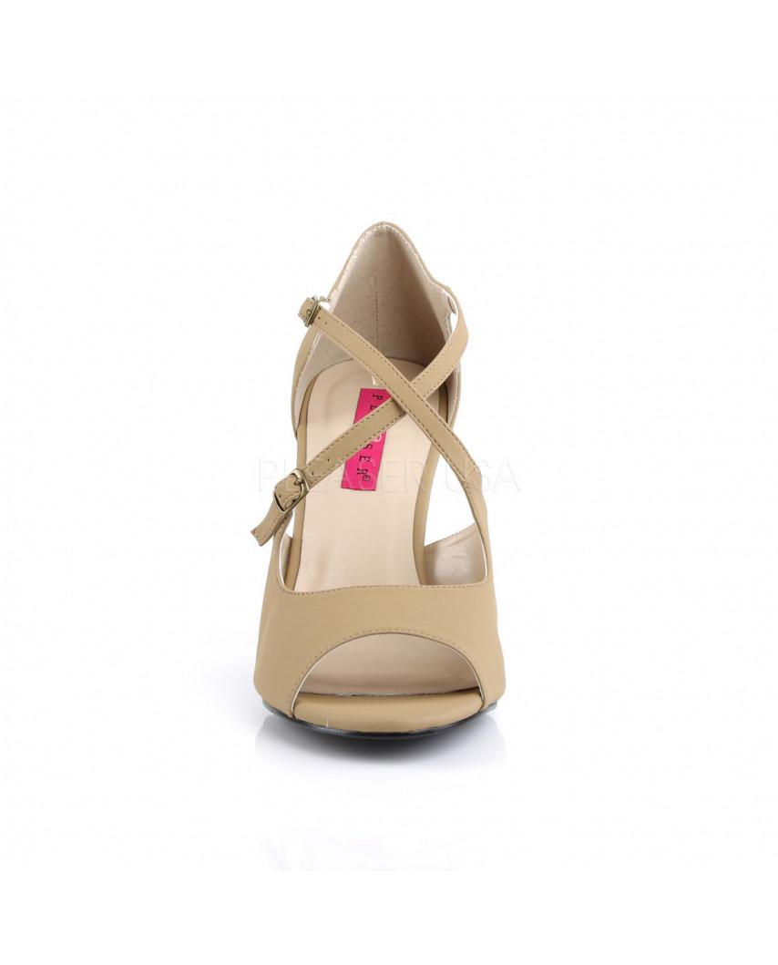 Pleaser — Sandales peep toes à lanières croisées Dream-412