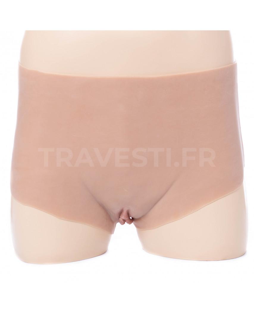 Travesti.fr — Faux vagin réaliste et extensible en silicone