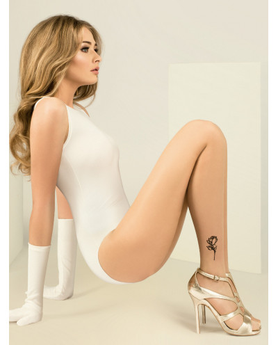 Gabriella — Collants transparents effet tatouage Jess