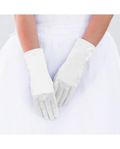 Gants habillés en satin style mariée