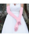 Travesti.fr — Longs gants habillés en satin style mariée