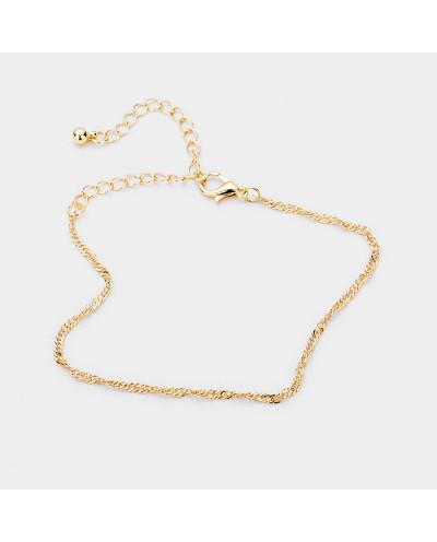 Dorothy — Bracelet de cheville torsadé avec bille de métal