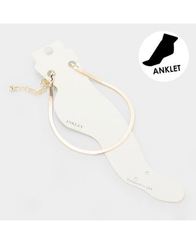 Fashion Jewelry — Bracelet de cheville plat à écailles