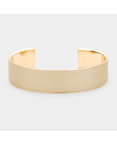 Bracelet manchette en faux cuir