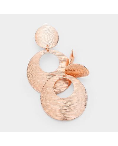 Sophia Collection — Boucles d'oreilles à clips disque métallisé