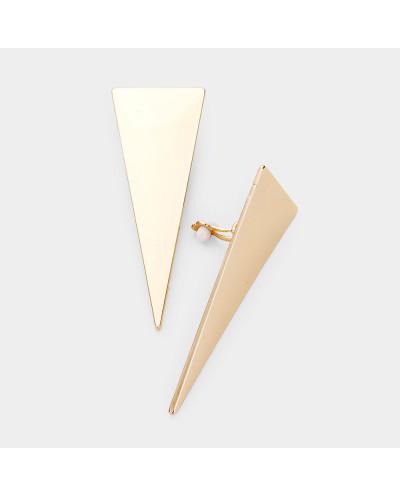 Longues boucles d'oreilles à clips triangulaires