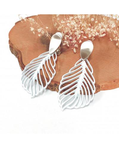 Boucles  d'oreilles à clips en forme de feuilles