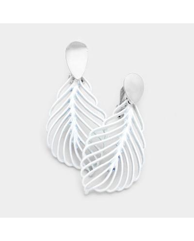 Fashion Jewelry — Boucles d'oreilles à clips en forme de feuilles