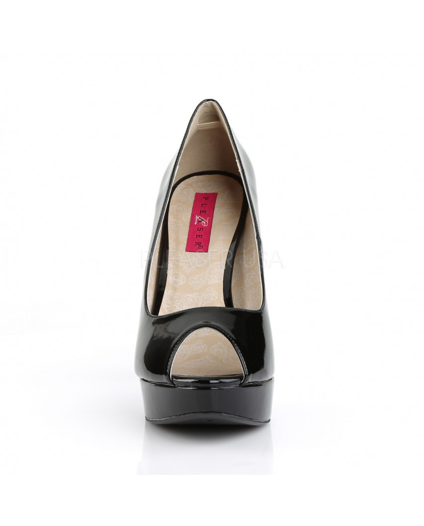 Pleaser — Escarpins peep toes à plateforme et talons aiguilles Chloe-01