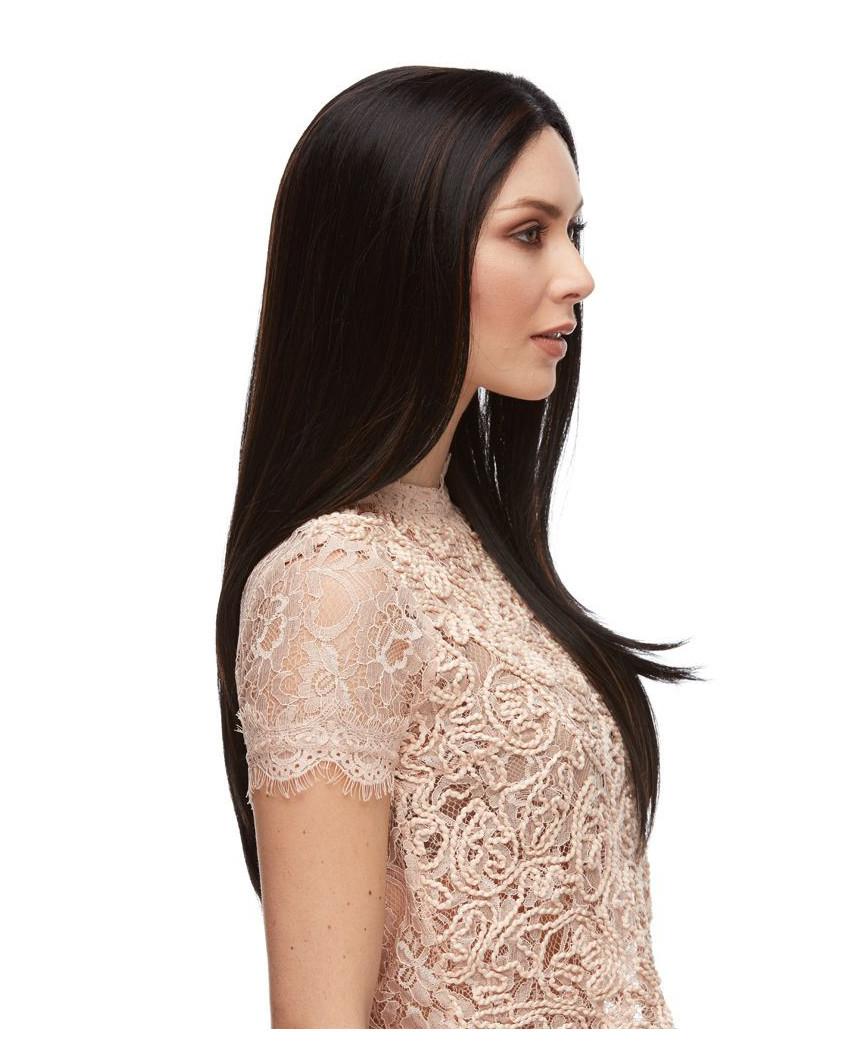 Sepia — Perruque synthétique longue et lace front Dahlia