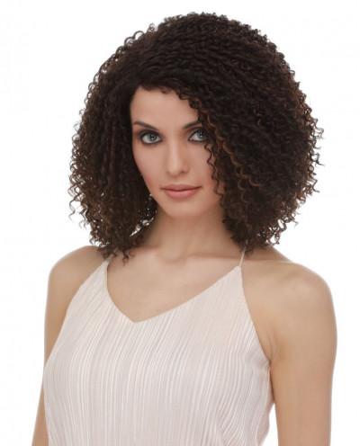 Sepia — Perruque synthétique mi-longue Yvette (brun)
