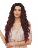 Sepia — Perruque lace front aux cheveux ondulés Nixie (bordeaux)