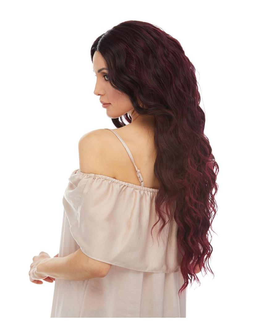Sepia — Perruque lace front aux cheveux ondulés Nixie