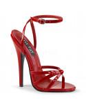 Devious — Sandales à talons extrêmes à bride Domina-108 (rouge verni)