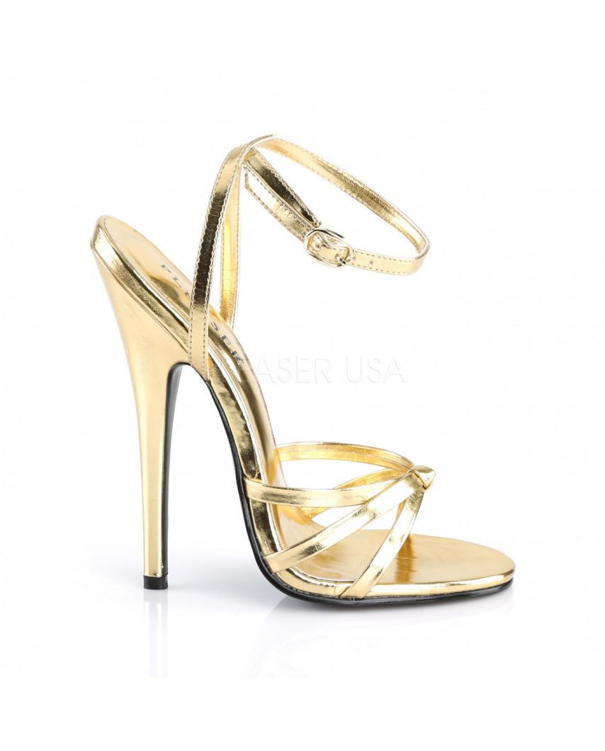 Devious — Sandales à talons extrêmes à bride Domina-108 (doré)