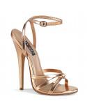 Devious — Sandales à talons extrêmes à bride Domina-108 (or rose)