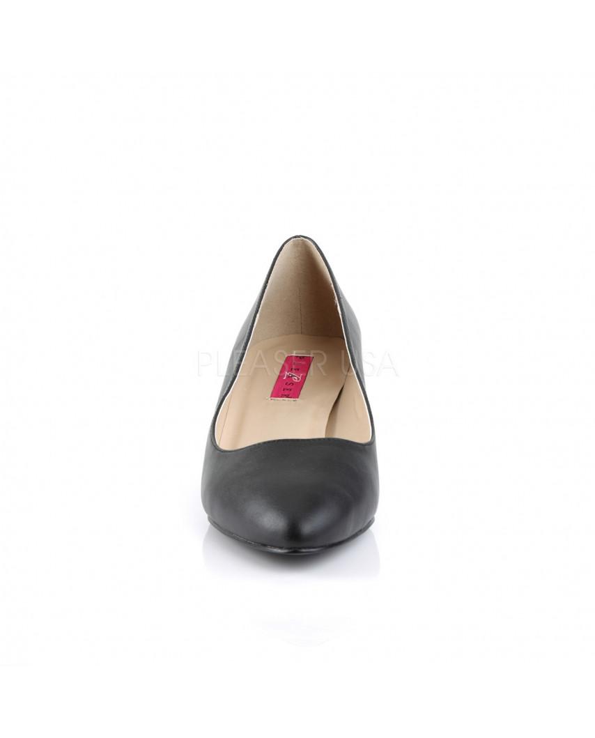 Pleaser — Escarpins classiques à petits talons Fab-420 (noir mat)