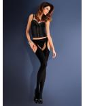 Gabriella — Collants porte-jarretelle opaques Strip Panty Microfibre