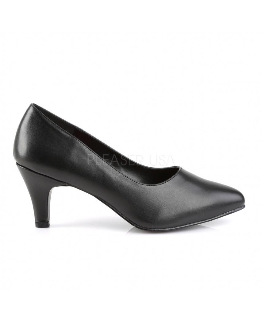 Pleaser — Escarpins classiques à petits talons Divine-420 (noir mat)