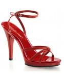 Fabulicious — Sandales à talons aiguilles et bride de cheville Flair-436 (rouge verni)