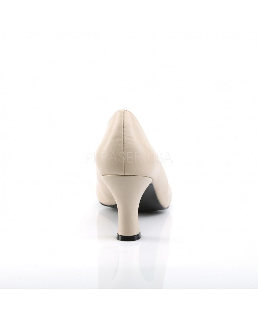 Pleaser — Escarpins à petits talons Jenna-01 (crème mat)