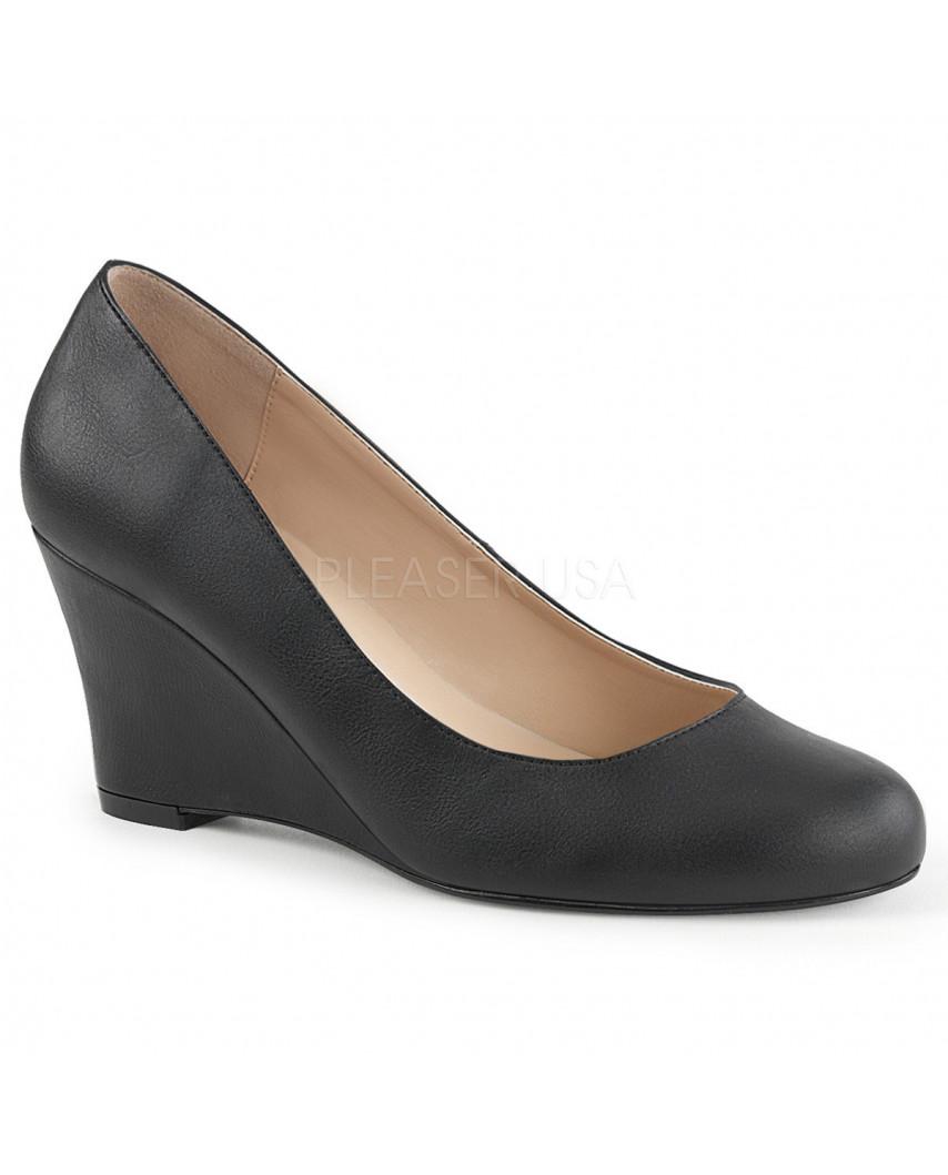 Pleaser — Escarpins à talons compensés Kimberly-08 (noir mat)