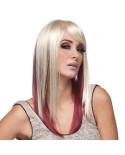 Sepia — Perruque synthétique longue aux cheveux lisses Jewel