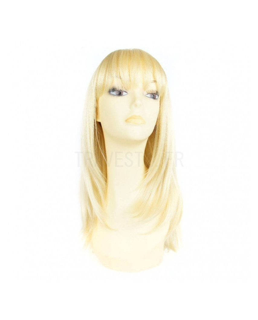 Sepia — Perruque synthétique mi-longue et lisse Lollipop (blond platine)