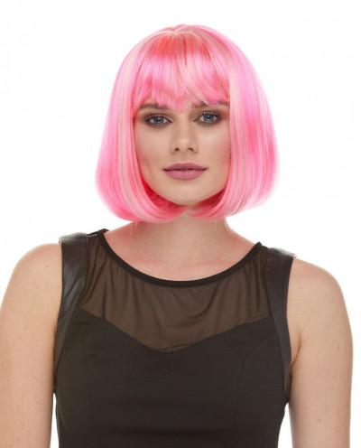 Sepia — Perruque synthétique courte au carré Cindy (rose)