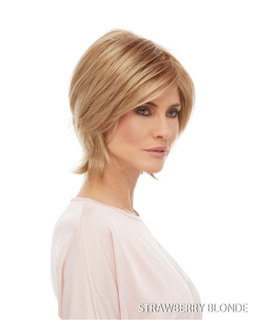 Euronext — Perruque synthétique courte dégradé Raquel (blond vénitien)