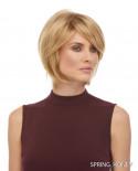 Euronext — Perruque synthétique courte dégradé Raquel (blond miel)