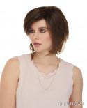 Euronext — Perruque synthétique courte dégradé Raquel (brun)