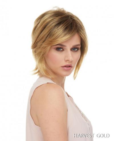 Euronext — Perruque synthétique courte dégradé Raquel (blond doré)