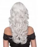 Sepia — Perruque synthétique longue ondulée Phoenix (blanc)
