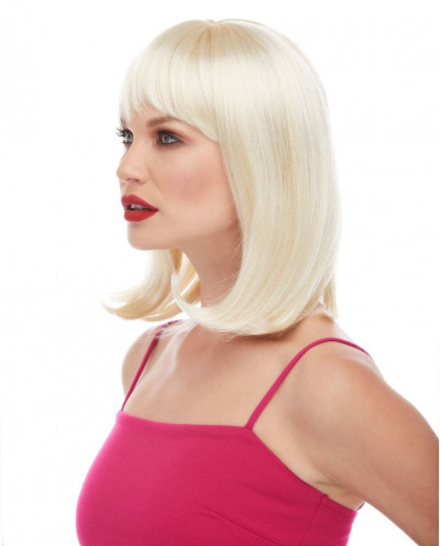 Characters — Perruque synthétique mi-longue carré plongeant Doll (blond platine)