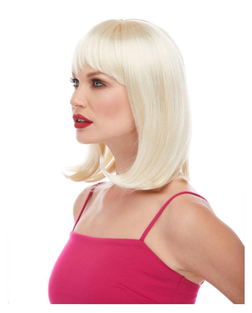 Characters — Perruque synthétique mi-longue carré plongeant Doll (blond)