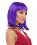 Characters — Perruque synthétique mi-longue carré plongeant Doll (violet)