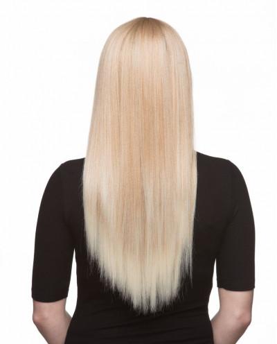 Mane Muse — Perruque synthétique longue cheveux lisses Oasis (blond platine)