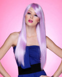 Blush — Perruque synthétique très longue cheveux lisses Divine (violet)