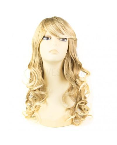 Mane Muse — Perruque synthétique longue cheveux bouclés Everly (blond platine)
