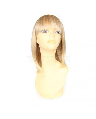Mane Muse — Perruque synthétique mi-longue frange droite Dara (blond platine)