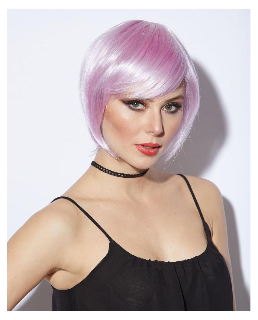 Blush — Perruque synthétique courte carré Mystic (violet)