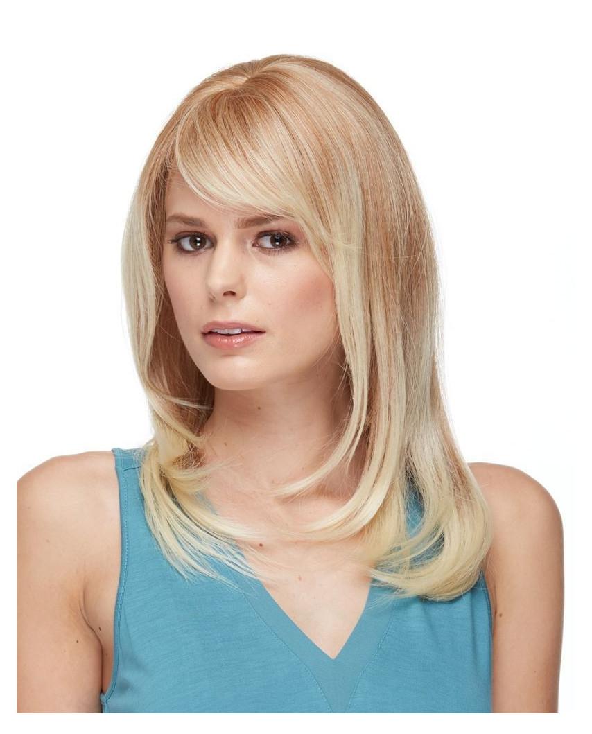 Sepia — Perruque synthétique mi-longue bonnet large Romantic (blond)
