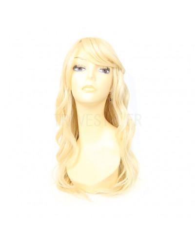 Sepia — Perruque synthétique longue bonnet large Fantasia (blond platine)