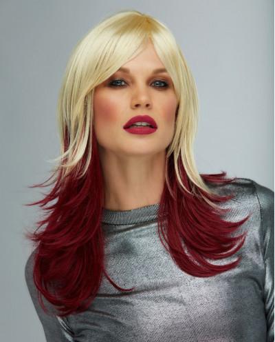 Blush — Perruque synthétique longue cheveux ondulés Hannah (blond platine)