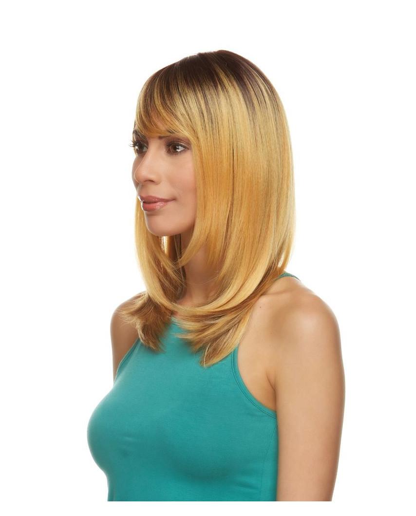 Mane Muse — Perruque synthétique mi-longue et lisse Kiley (blond)