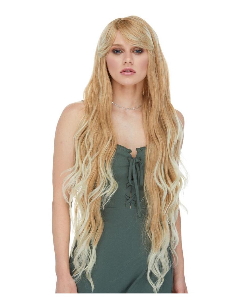 Mane Muse — Perruque synthétique très longue et ondulée Sapphire (blond)