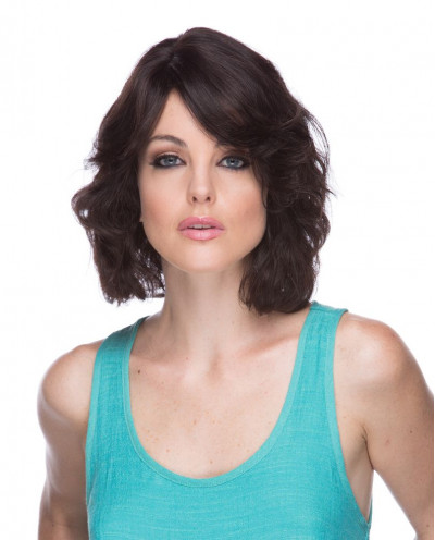 Eleganté — Perruque en cheveux 100% naturels courte Lotus (brun)