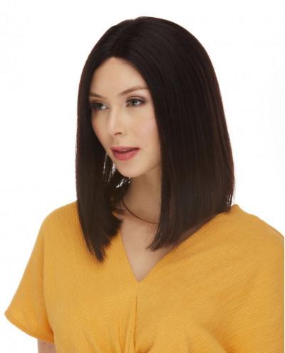 Perruque lace front en cheveux naturels Veronica (brun)